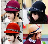 2013 New Fashion Nae Hot 100% wool Women's/Lady  stewardess hat office beret cap Equestrian cap free shipping