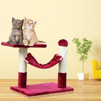 2013 new Pet toy supplies cat toy duomaomao rack belt hammock cat scratch board cat jumping cat scratch column Wine red
