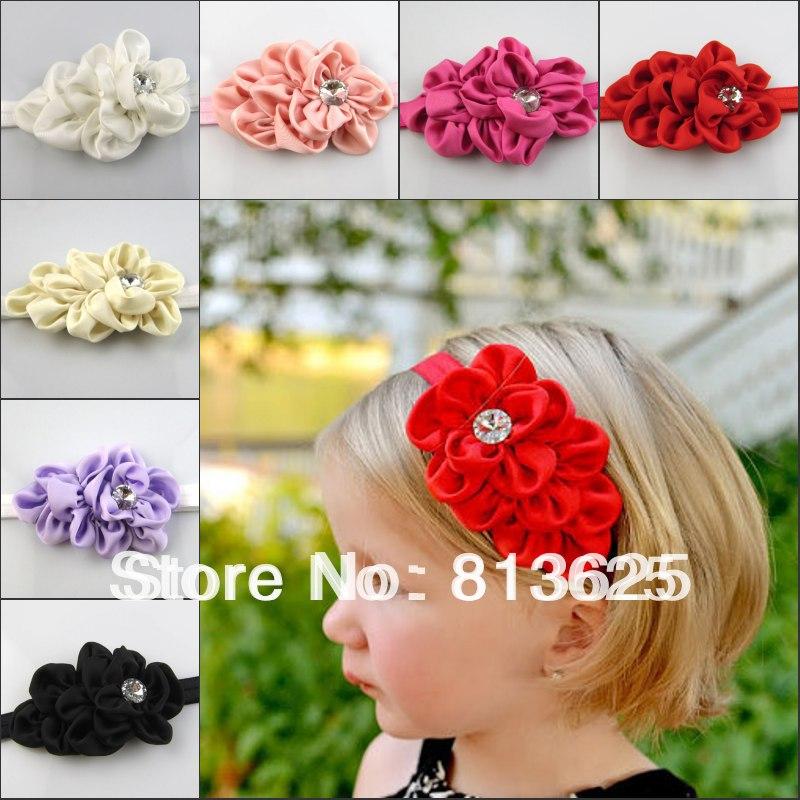 MOQ 1Pc New Style Rhinestone Headband Hairband Baby Girls Flowers Headbands Kids Hair Accessories Baby Christmas Gift(China (Mainland))