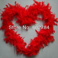 Free Shipping 10pcs/lot 45G RED Fluffy Wedding chicken Marabou feather Strip Turkey feather Boa scraf 2yards per piece
