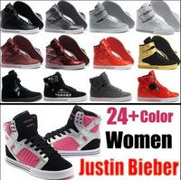 Hot Sale Ladies' Justin Bieber Hip hop Skateboarding Shoes,Free Shipping Women's Dancing Shoes Size US5.5-8.5
