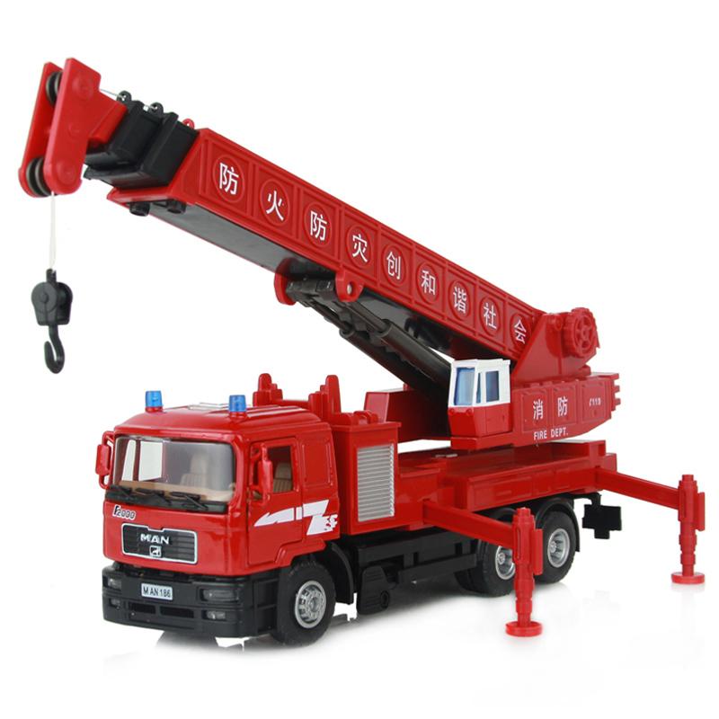 2013 bambini in lega giocattolo fuoco camion gru gru gigante auto , di
