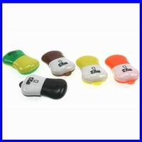 Free shipping USB 2.0 micro sd card reader memory card reader,tf card reader,RY5011