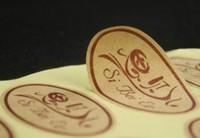 5000pcs Custom Size Cheap Price Adhesive Kraft Paper Sticker Label printing any quantity free shipping DHL
