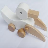 Children's wooden toys ducklings mini car