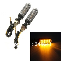 2 Pair Motorcycle Dirt Bike LED Turn Signals Universal Indicators Amber Lights Super Bright Free Shipping
