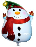 Christmas Balloons Cute Cartoon Snowman Balloons Aluminium Coating balloons Foil Balloons toys for kids Wedding Balloons Gift