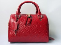 New 2013 Women Handbags Designers Brand Messenger Bag Vintage Genuine Leather Cowhide Famous Totes Items Black Red Free Shipping
