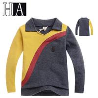 New Baby Boys Patchwork Sport Long Sleeve T-Shirts Children V-Neck T Shirt Kids Autumn Spring Fashion Handsome Clothes 5 Pcs/Lot