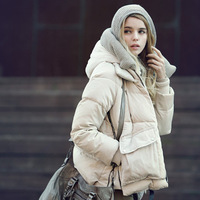 2013 autumn and winter fashion military equipment in Europe and America loose big yards short and thick down jacket