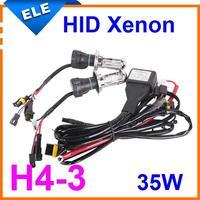 h4 hi lo hid xenon bulb h4-3 high low h/l bi Conversion Kit Lamp Light  12V 35W 3000k,4300k,6000k,8000k,10000k