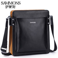2013 New style Cowhide man bag fashionable casual messenger bag vintage genuine leather small bag