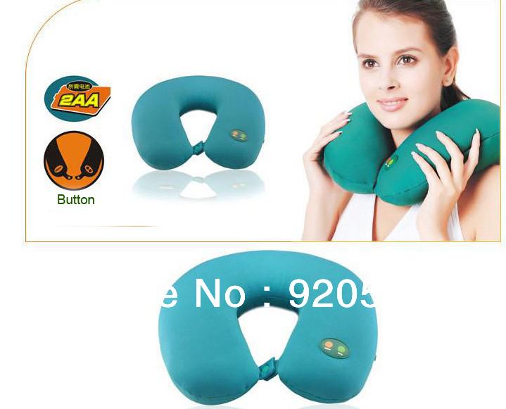 100% brand high quanlity Neck Massage Pillow U-Shaped Pillow Electric Massager , Cervical spine massager A0031(China (Mainland))
