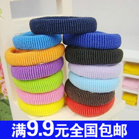 0001 popular ultra elastic candy color towel headband hair rope adult child hair accessory hair accessory
