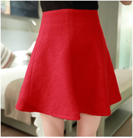 6  autumn fashion all-match high waist woolen full skirt bust skirt short skirt q9402