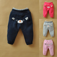 Male female child sweatshirt fleece big ass pants trousers baby pants baby trousers autumn and winter