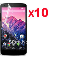 10X New Clear glossy Screen Protector Guard Cover Film For LG NEXUS 5 nexus 5 D820 D821