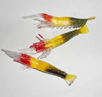Free shipping, 30pcs cheap prices with colored luminous shrimp simulation models, Lure, Minnow