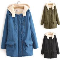 xxxxl cotton-padded thermal jacket slim thickening wadded jacket outerwear medium-long plus size female clothing free shipping