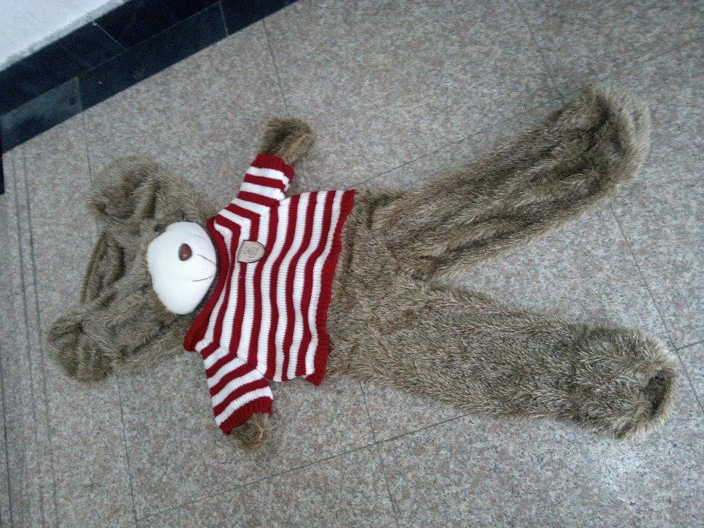 160 cm sweater big teddy bear skins, animal coat girl gifts, large bear coat, hull(China (Mainland))