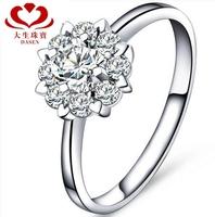 "DASEN brand,18 k platinum female ""1.5 carat result "" 0.05CT natrual diamond wedding ring diamond ring"