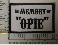 In memory of OPIE SONS OF ANARCHY Embroidered Iron On/Sew On Patch Biker Heavy Metal Wholesale Free Shipping Dropship