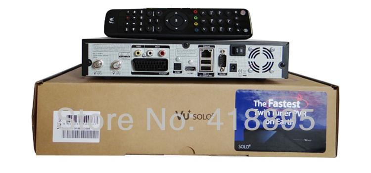 vu solo 2 original Linux system decoder 1300 MHz CPU 2 dvb-s2 tuner vu solo hd satellite receiver(China (Mainland))