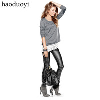 Valuesky 2013 repair ultra fashion elastic lederhosen PU skinny pants hm6 full  Free Shipping Free Shipping