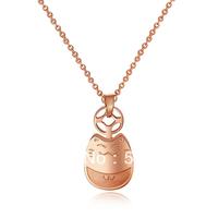 Transhipped lucky totoro necklace female short design fashion exquisite titanium accessories