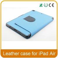 High quality fashion leather case for ipad air/ipad 5 (With Smart Cover Auto Wake / Sleep)