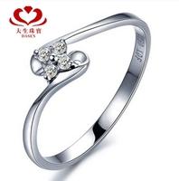 "DASEN brand,18 k gold female ""1 carat result "" 0.08 CT natrual stone wedding ring stone ring"