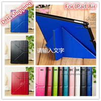 NEW Transform Flip Leather Case For iPad Air Stand Leather Cover Case, For ipad air Y style leather case.DHL Free Shipping. .
