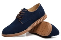 British Style fashion suede genuine leather walking shoe for men big size EU 38-48 from manufacturer