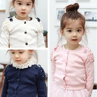 2013 children's clothing girl's  long sleeve t shirt ,sweatshirt  100% cotton thickening cardigan out wear shirt