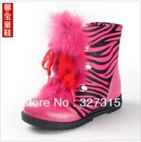 2013 Korean version of the new winter fashion models girls real rabbit Martin boots high boots snow boots shoes for children