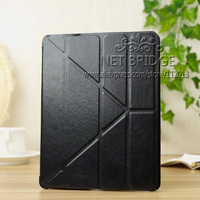 DHL Free Shipping ,Factory Wholesale Stand Leather Case For iPad Air Multi-function folding holster Cover Case , 9color
