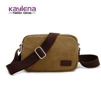 Canvas male small messenger bag mini bags general unisex bag vintage shoulder bag