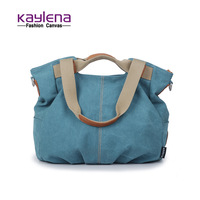 Fashion canvas shoulder bag handbag women's brief large bags fashionable casual messenger bag