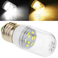 NEW 10pcs/lot E27 E26 4W 280-Lumen 9 SMD 5630 5730 LED Pure Warm White Energy Saving Spotlight Corn Bulb Lamp w/Cover 110V AC