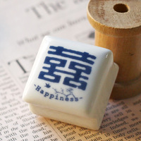 U-pick vintage ceramic stamp - - a double happiness double happiness stamp wedding supplies