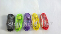 10 color With Volume Control & Mic Hand-free Earphone For iPhone 5 5S 5C Headset 500pcs/lot Free DHL shipping