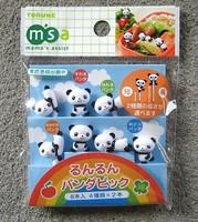 Hot free shipping bow panda fruit fork style bentos animal fruit fork