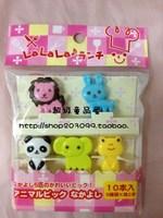 Hot free shipping Small animal mini fruit sign fruit fork mini bentos decoration a