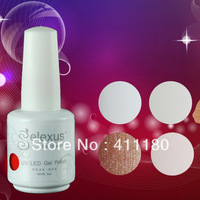 Free Shipping 12Pcs/lot 15ml 2014 New Gelexus Soak Off UV Nail Gel Polish 337 Fashion Colors