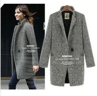 Free Shipping autumn winter new arrival jacket plus size long big sweater women clothes DM131929