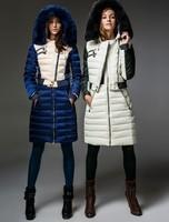 New Arrival Designer Fashion France Style Woman's Rabbit Fur Down Jacket+Tank Down Dress 2 Colors Twinset F15268