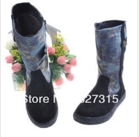 Free shipping Korean children's snow boots, winter boots big virgin girls in  thick plush padded  cotton boots foreign trade