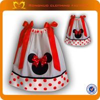 New design baby kids clothes,girls cotton pillowcase dress,cute minnie mouse dress 24 pcs/lot Free Shipping