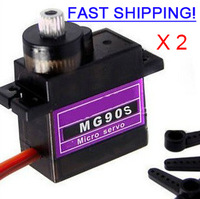 MG90S 9g Metal Gear Digital Micro Servo Upgrade SG90 for Heli (2-Pack)