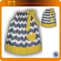 Hot 2014 sweet princess baby pillowcase dress,cute chevron summer pillow case dress for girl 3 years 24 pcs/lot Free Shipping
